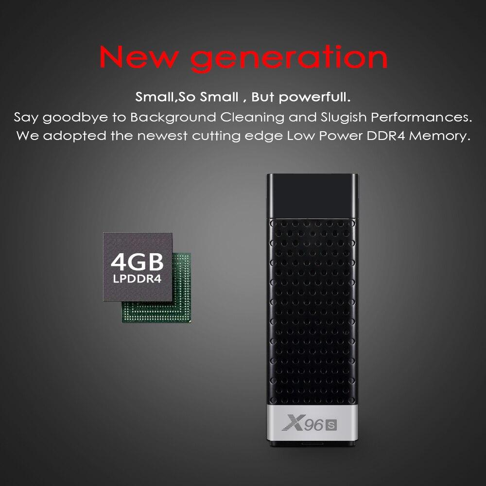 Powstro haute qualité X96S 2 GB + 16 GB S905X2 Android 8.1 Smart TV Dongle Stick Box HD 5 GHZ WIFI décodeur pour école de bureau à domicile