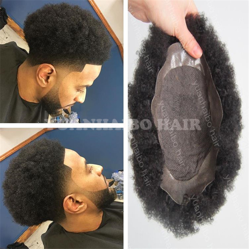 Hot Sale 6inch 1b Afro Indian Short Hair Lace Base With