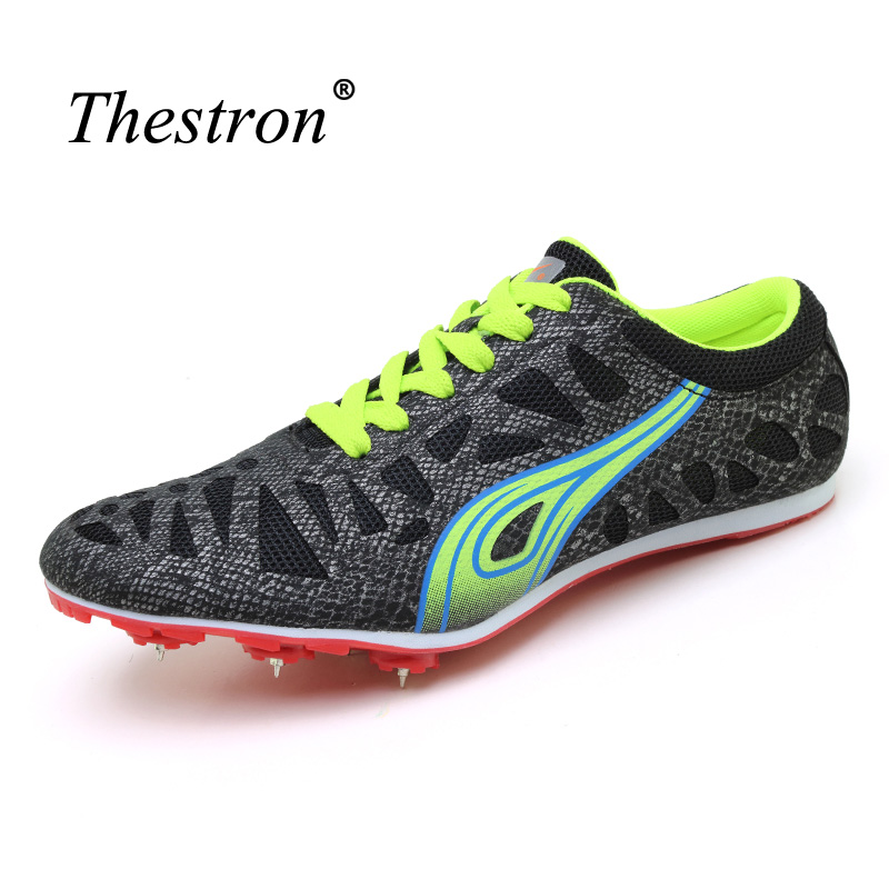 2018 Spikes for Running Shoes Black Green Man Track and Field Shoes Spring Summer Anti-slip Running Nails Sneakers Children
