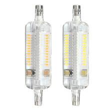 R7S LED Corn Lamp 78MM 5W 104 SMD 3014 LED Pure White Warm White 350Lm Corn Light Bulb AC110V цена 2017