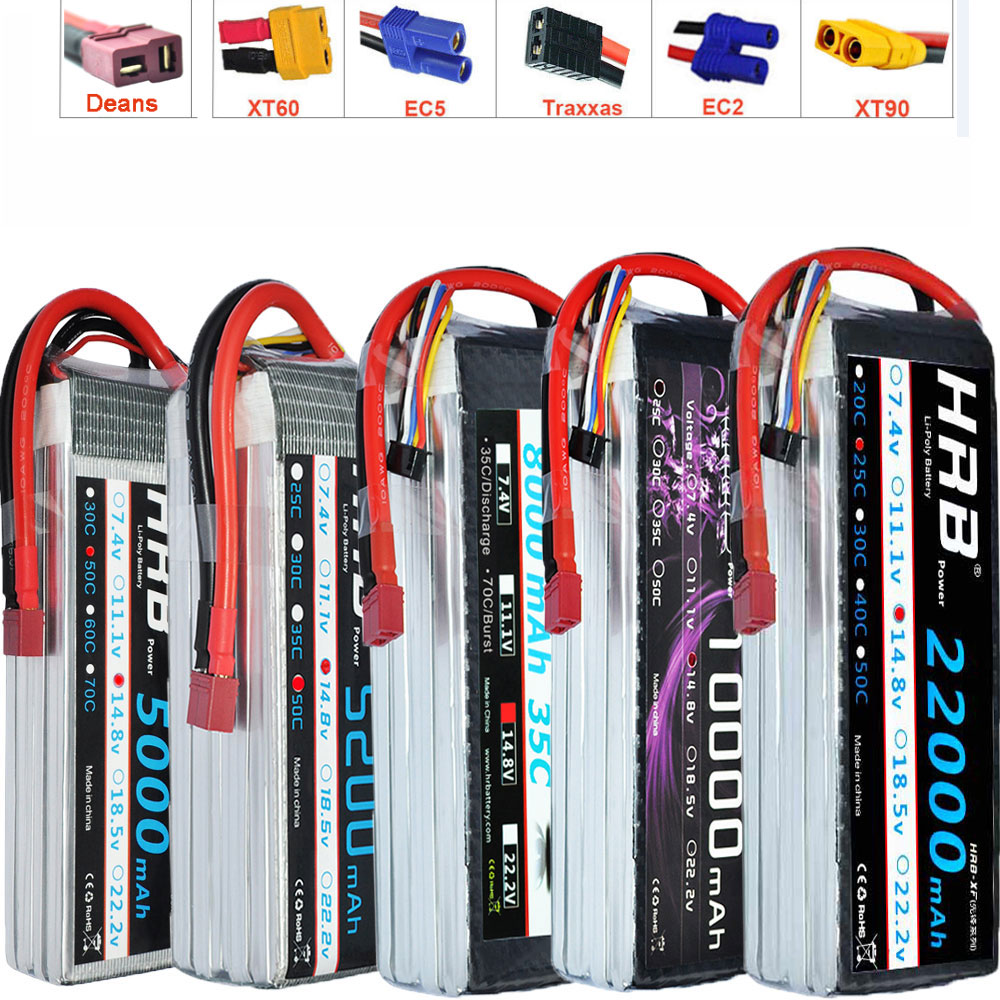 HRB Lipo battery <font><b>4S</b></font> 14.8V <font><b>5000mAh</b></font> 5200mah 6000mah 8000mah 10000mah 12000mah 16000mah 22000mah 50C For RC Helicopter Quadcopter image