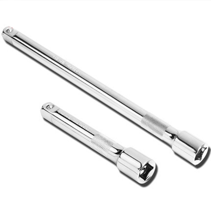 1pc 3/8 1/2 Inch Drive Extension Bar Ratchet Socket Wrenches Extender Drive Hand Tool 75mm 150mm Long Adjustment Tool