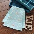 Малыш Дети Хлопок Лето Весна футболки Лето футболки С Длинным Рукавом 60-95 см Детская Одежда G047