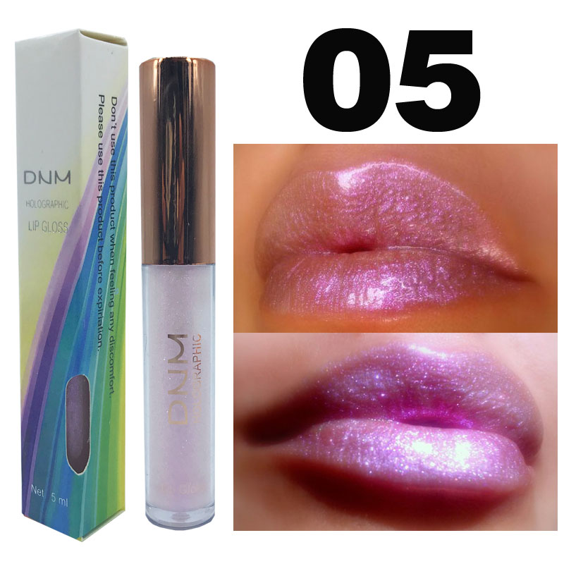 DNM 6 Color Polarized Lip Gloss Chameleon Pearlescent Moisturizing Lipstick Colorful Lipgloss Sexy Women Glitter Liquid Makeup in Lip Gloss from Beauty Health