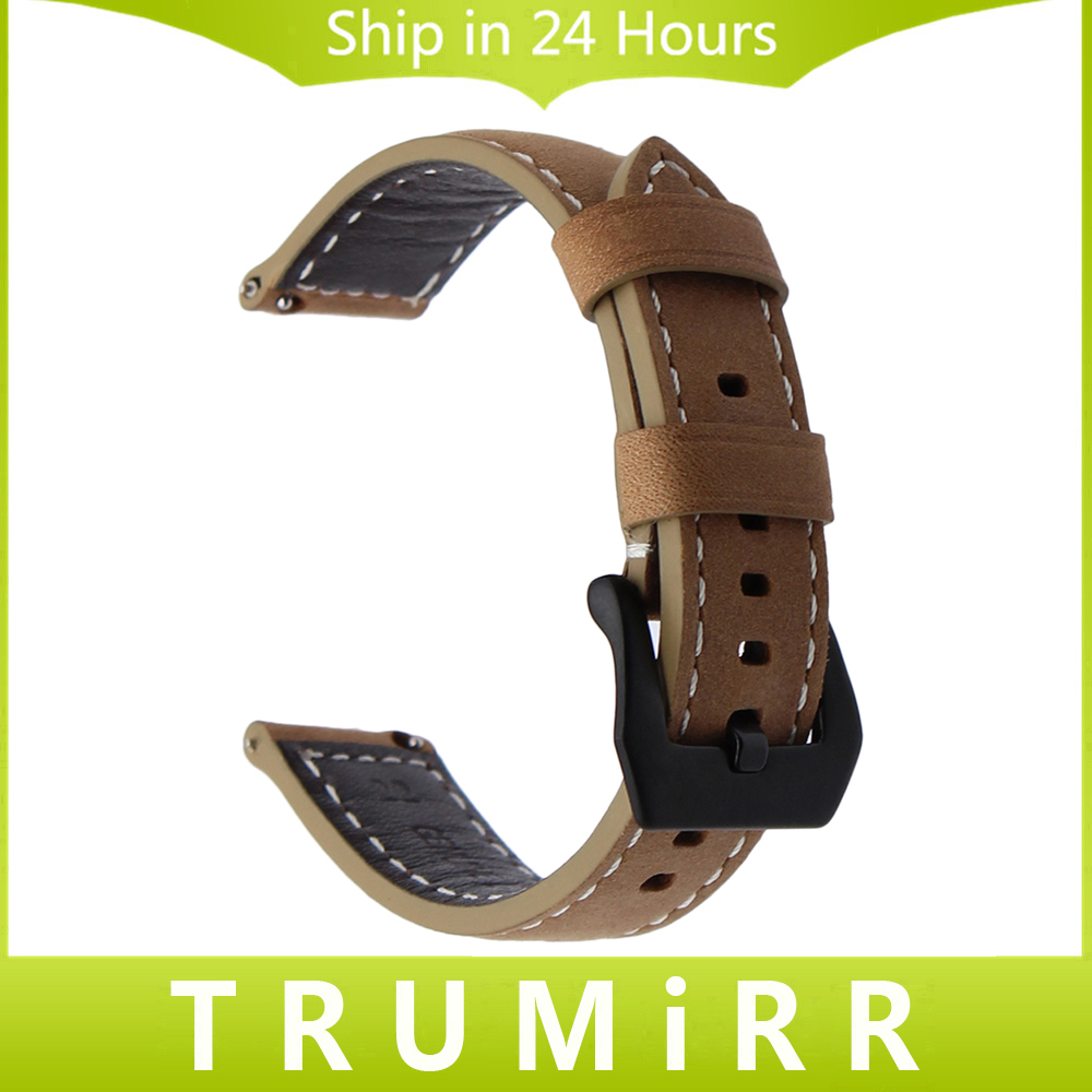 22mm Quick Release Watchband Italian Genuine Leather Watch Band Universal Wrist Strap Vintage Crazy Horse Belt Bracelet Brown 18mm 20mm 22mm 24mm genuine leather watch band quick release strap universal wrist bracelet magnetic lock black blue brown red