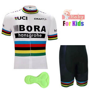 835cbe16a bora Boys Short sleeve Breathable Cycling Jersey Set 2018 Kids Quick Dry  Bicycle