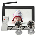 "7"" Wireless Video Color Baby Monitor with 2 Cameras and 7 Inch TFT LCD 2.4GHz Wireless Baby Camera with Night Vision"