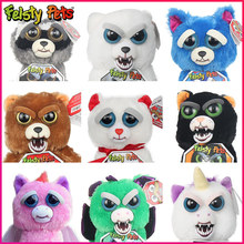 2019 New Mini Feisty Christmas Children Gift Change Face Pets Stuffed Animal Doll Plush Toys Kids Cute Prank toy Practical Jokes