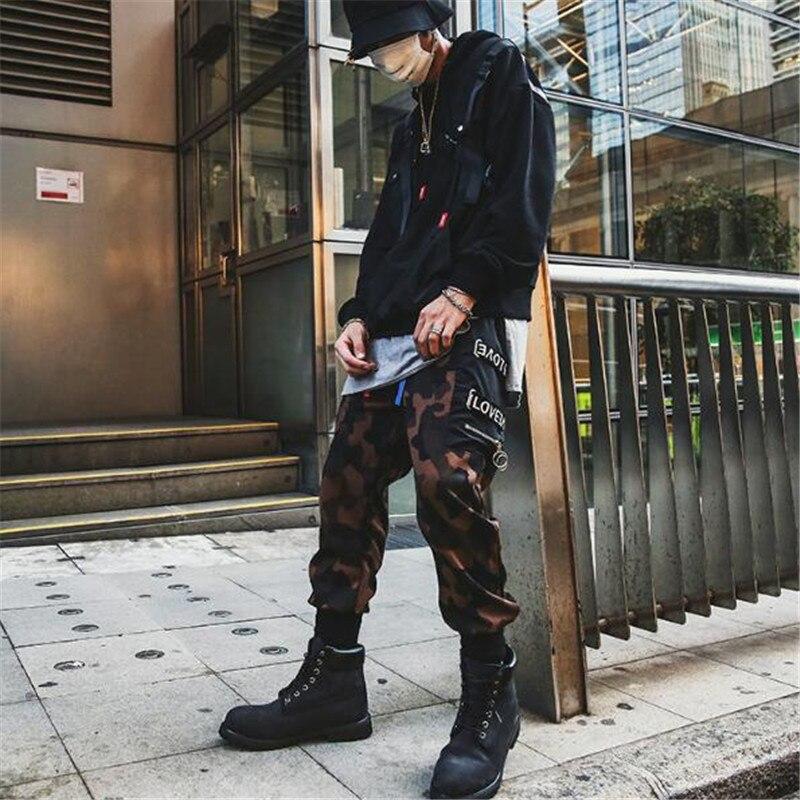 2018 europäischen Amerikanische hip-hop-original retro Haren lange hosen camouflage druck, große tasche baggy hosen
