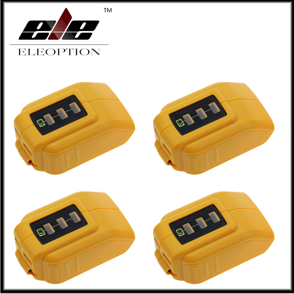 4x High Quality <font><b>DCB090</b></font> Eleoption USB Power Source Addon for 12 Volt / 20 Volt MAX Battery image