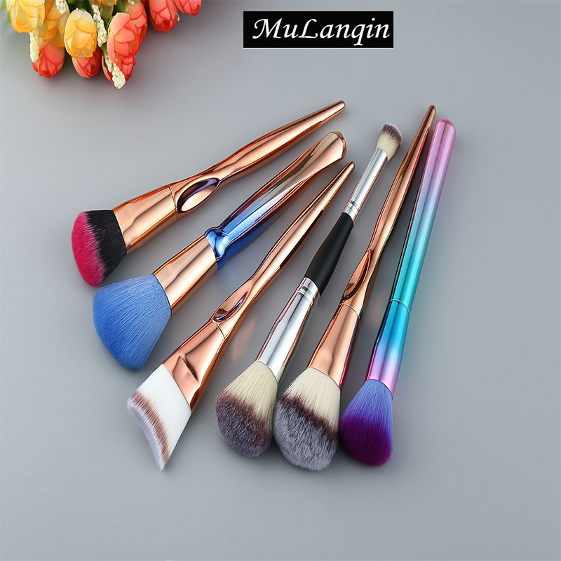 1 PCS Large Foundation Makeup Brushes Coffee Handle Very Soft Hair Blush Powder Make Up Brush Face Beauty Cosmetic Tools Blush