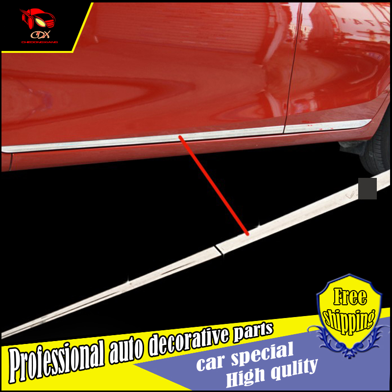 ФОТО ACCESSORIES FOR Toyota Vios yaris L 2014-2017 stainless steel SIDE DOOR BODY GARNISH MOULDING COVER trim PROTECTION CAR STYLING