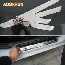 AOSRRUN font b Car b font accessories Stainless Steel Door Scuff Plate Door Sill font b