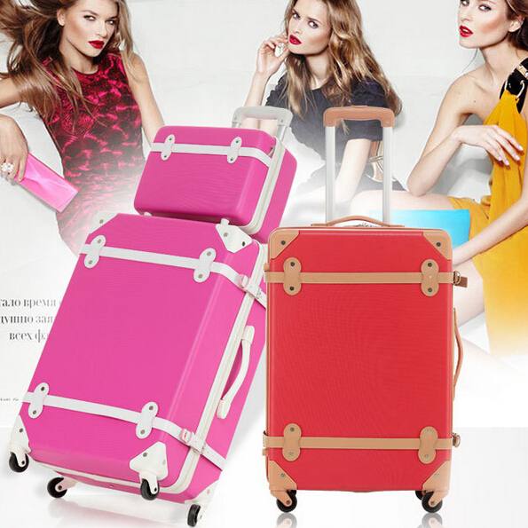 2 pcs/sets) Fashion Vintage Luggage Bag 13
