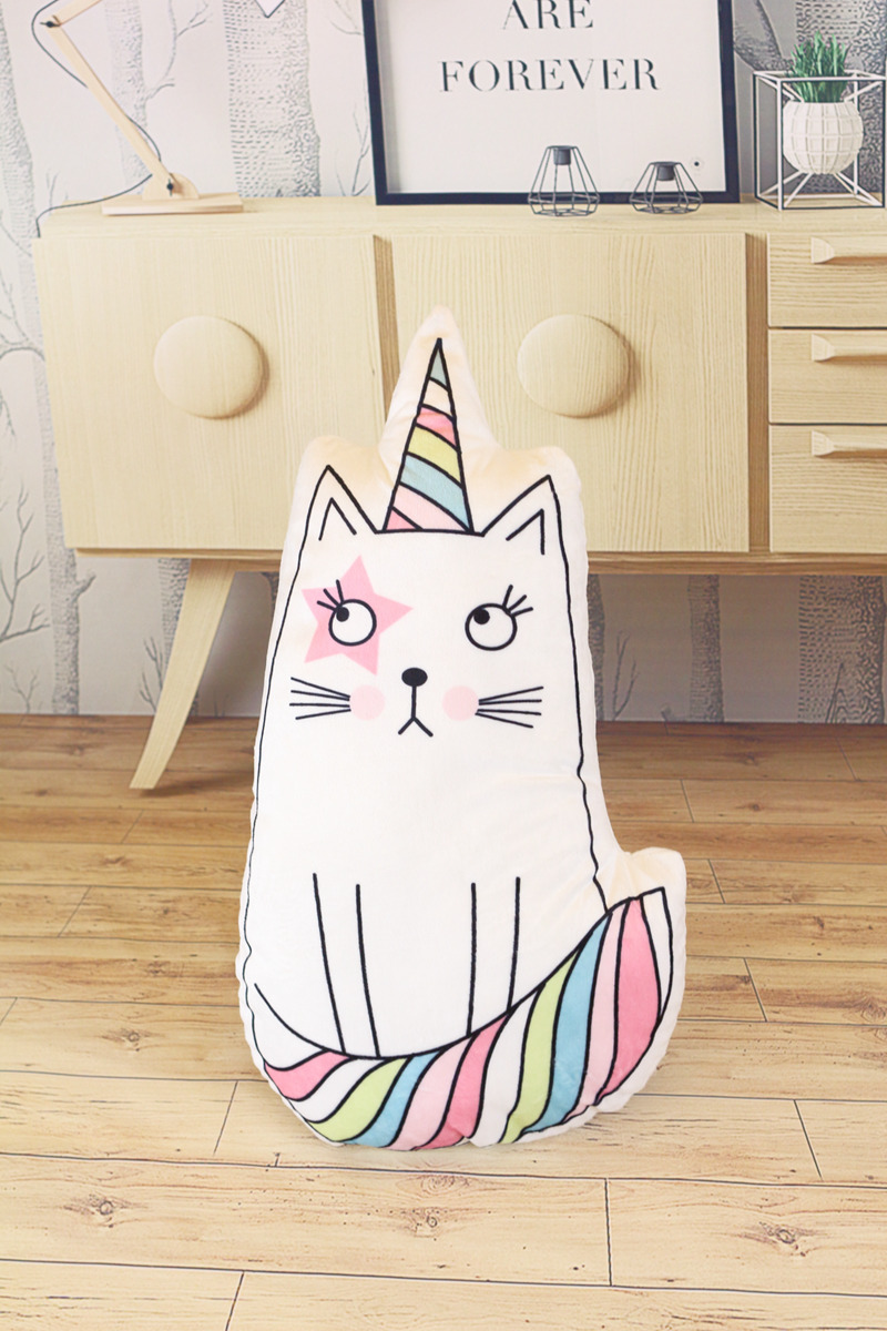 KittyCat Rainbow Pillow