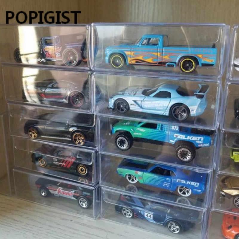 8.2X4.3X4.1 Cm PVC Kotak Korek Api Tomy Mainan Model Mobil 1/64 Tomica Hot Wheels Debu Bukti Display perlindungan Kotak 100 Pcs
