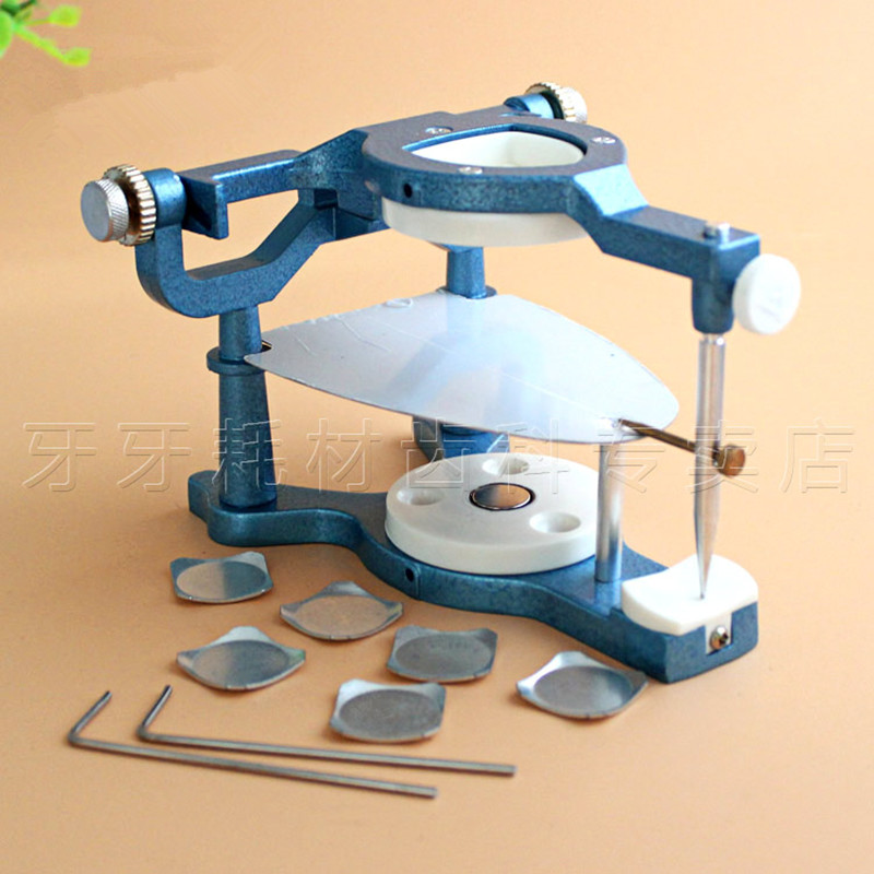 1 Pieces Dental Laboratory Equipment Big Size Silvery Alloy Articulators Adjustable Denture Magnetic Anatomic Articulator anatomic articulator dental lab material