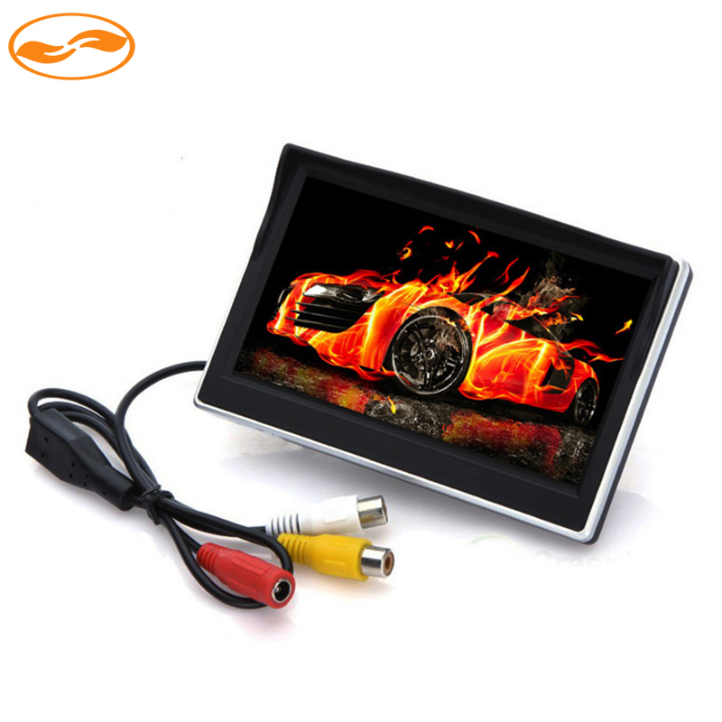 HD 800*480 5 Car TFT LCD Color 2 Video Input Rearview Monitor Video Player for Parking System