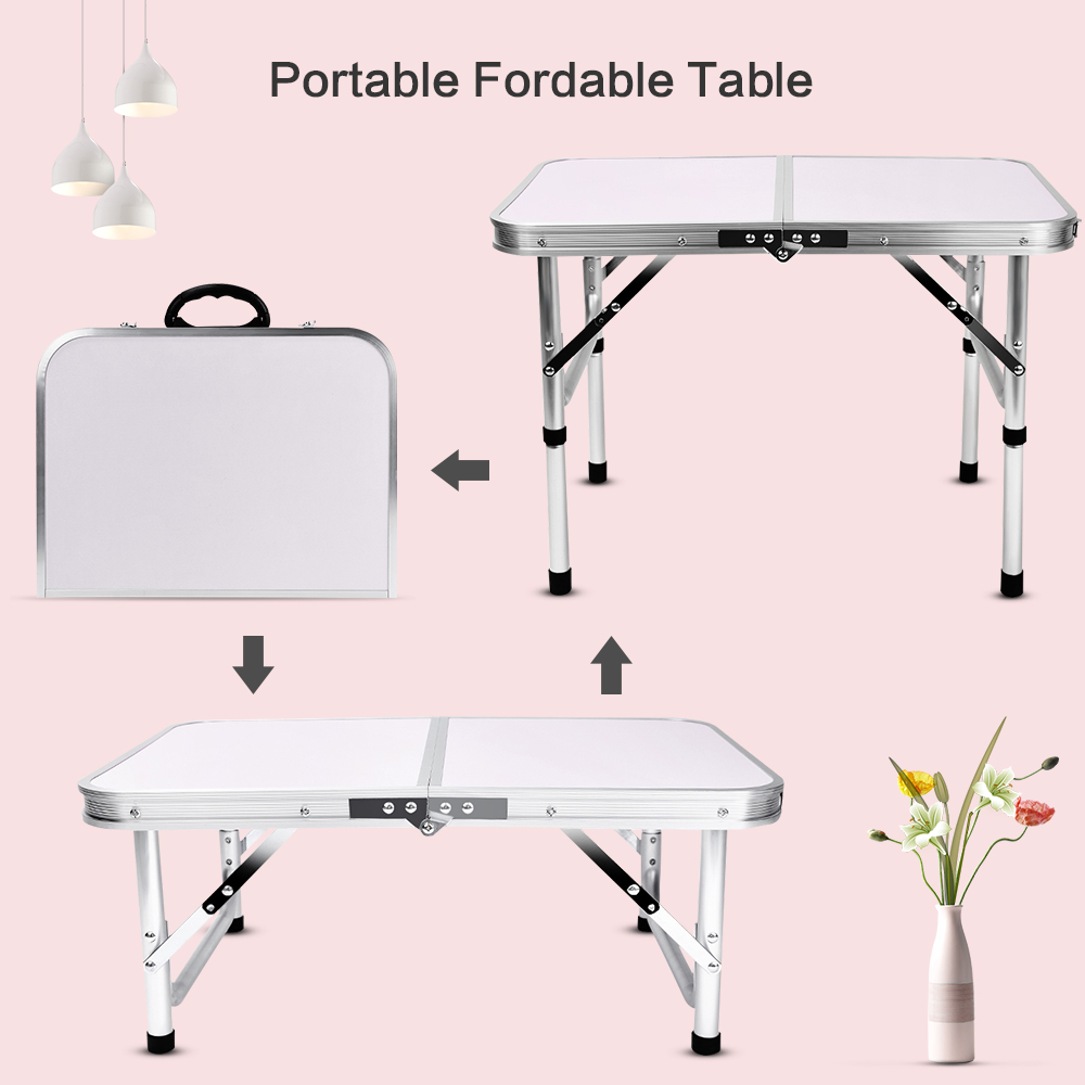Original Aluminum Folding Camping Table Waterproof Laptop Bed Desk Adjustable Outdoor Tables BBQ Portable Lightweight ON SALE