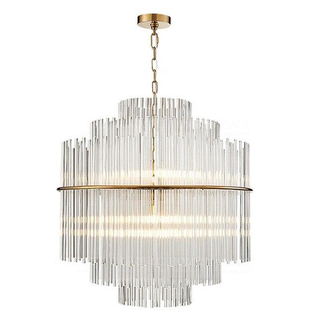 Oro metal varilla de vidrio transparente cristal chandelier nordic oro metal varilla de vidrio transparente cristal chandelier nordic postmodern moda lmpara colgante aloadofball Choice Image