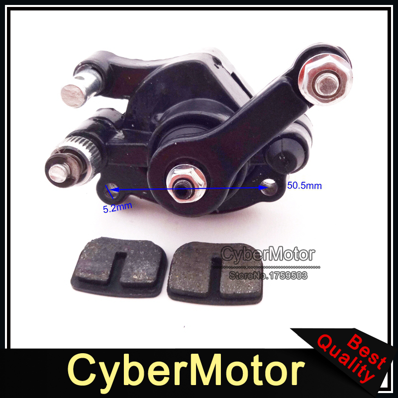 Minimoto Rear Disc Brake Caliper Pads Shoes For 2 Stroke Mini Gas Electric Go Kart ATV Quad 4 Wheeler GoPed Scooter keoghs real adelin 260mm floating brake disc high quality for yamaha scooter cygnus modify