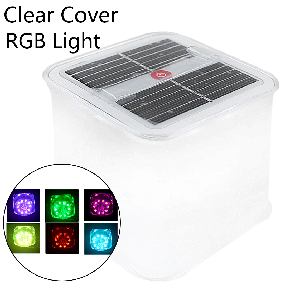 Colorful 10 LED Portable Lantern Collapsible Tent Lamp Waterproof Outdoor Camping Hiking Light Solar Inflatable Light