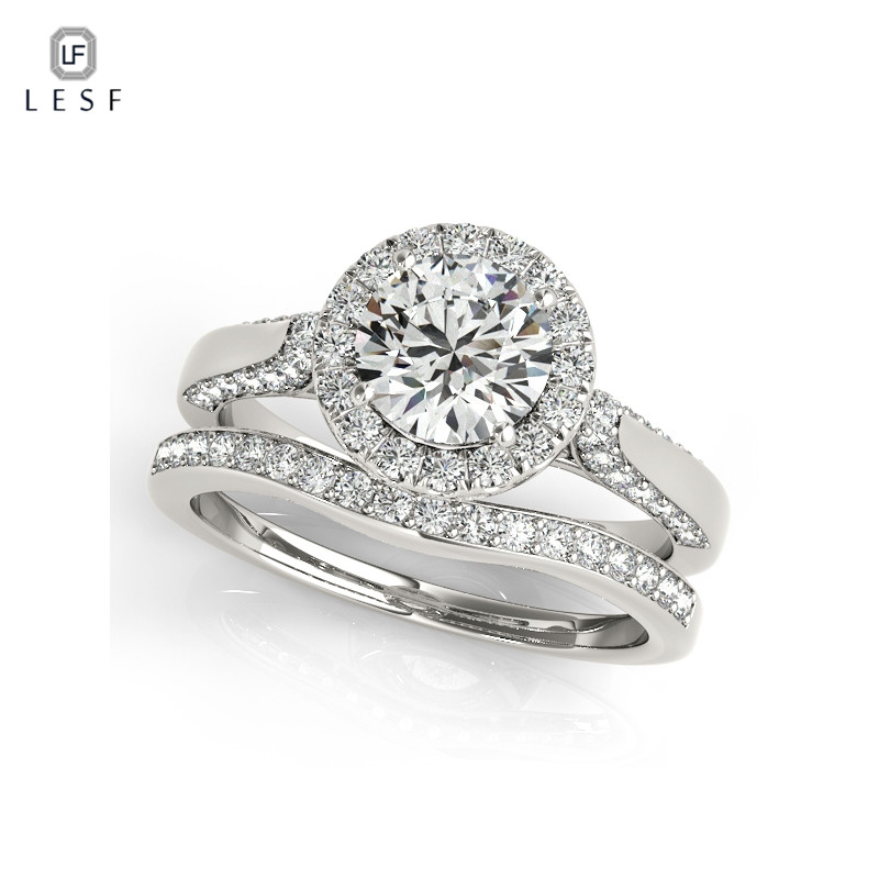 LESF New Arrival Ring Sets 925 Sterling Silver Geometric with Clear Zircon Ring for Women Engagement Ring Wedding Jewelry цены