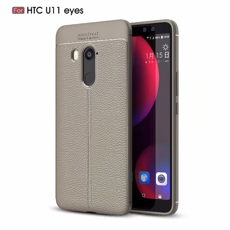 Case for HTC U11 Eyes U11Eyes Soft Plain Mobile Phone Accessories Bags Cases for HTC U11 Eyes Covers Luxury Celular Capa