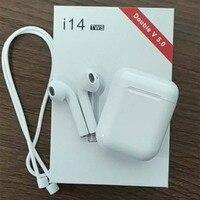 Оригинальный i14 наушники-вкладыши TWS с 1:1 сенсорное управление Беспроводной Bluetooth 3D бас наушники вкладыши для однообъективной i70 i20 i60 наушник...