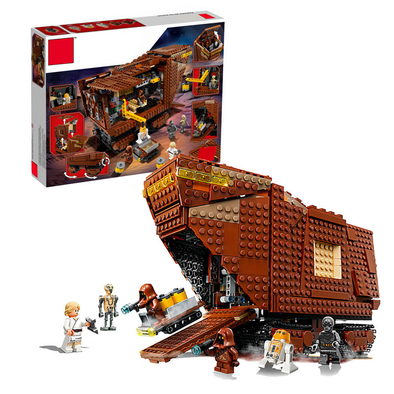 New Star plan Wars Calendrier de L'avent Année 2018 Compatible Legoing La Sandcrawler building Block kid Jouets