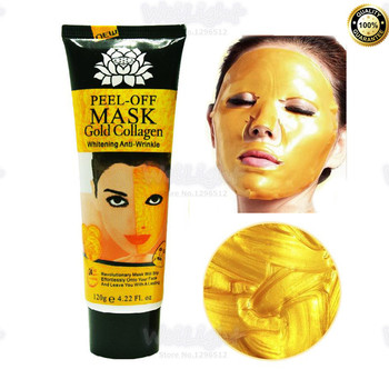 цена на 120g/Bottle 24K golden mask Collagen Anti wrinkle face pack Anti aging facial mask for skin care face lifting firming Wholesale