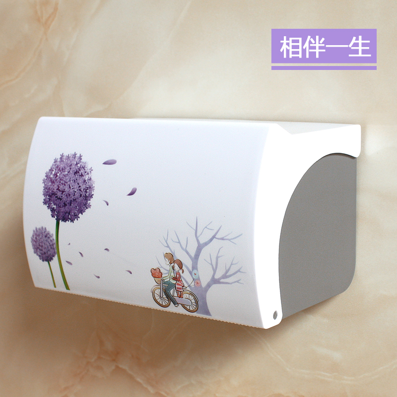 Bathroom Toilet Tissue Box Plastic Perforated Toilet Tray Waterproof Toilet Paper Holder Roll Paper Rack Towel Rack LO4193