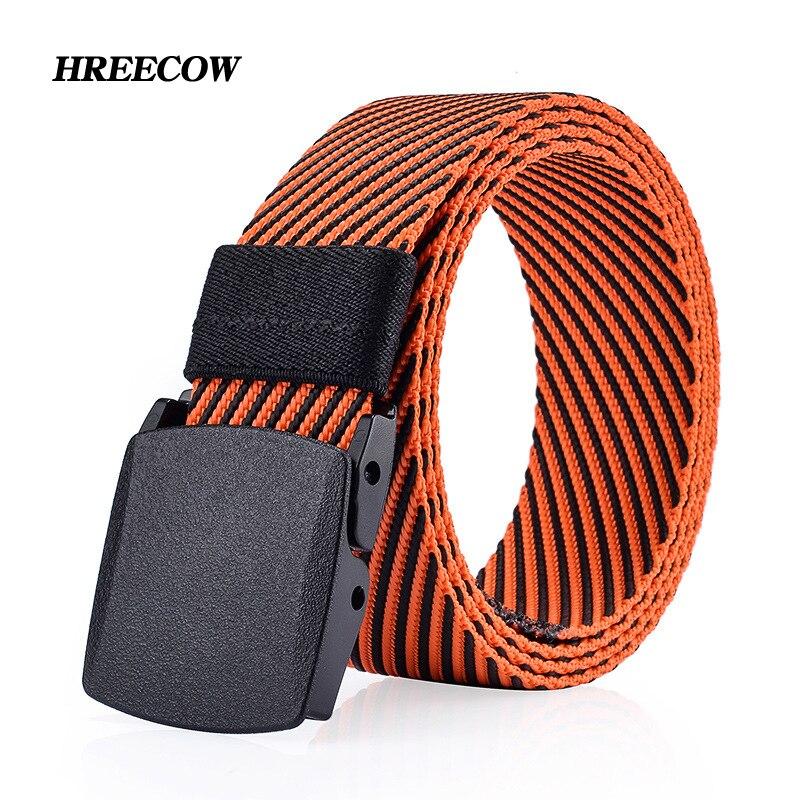 Men's Canvas Belt No Metal Anti Allergy Stripe Tactics Woven Belt Canvas Belt Casual Pants Belts Breathable For Jeans