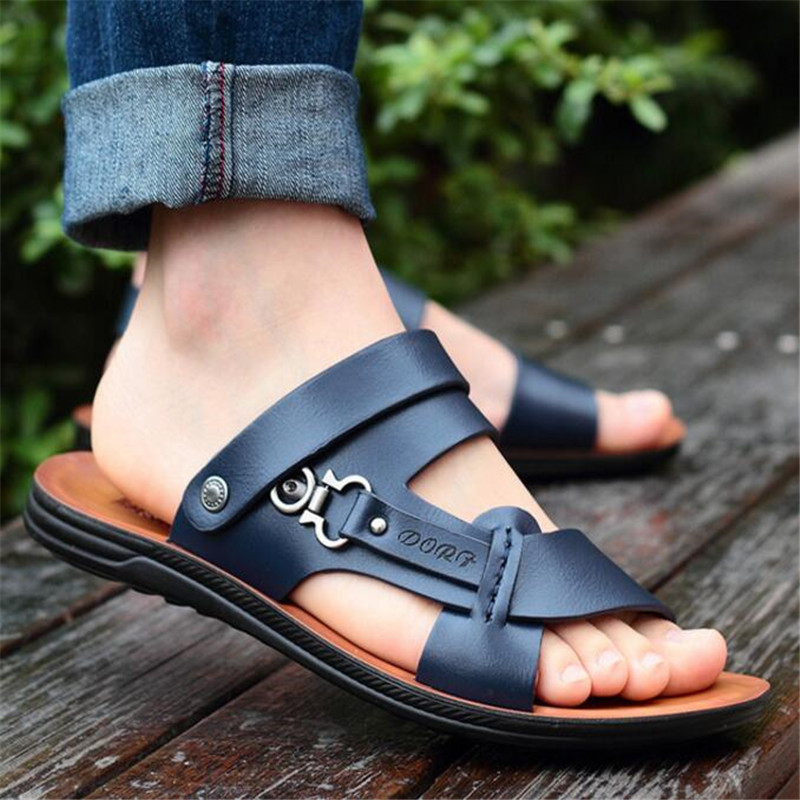 New Summer Men's Open Toe Sandals Fashion Trend Beach Shoes Slippers Men's Sandals And Slippers Fashion Casual Men's Shoes