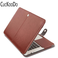 PU Leather Book Cover Folio Case With Stand Function For Macbook Air 11 6 13 3