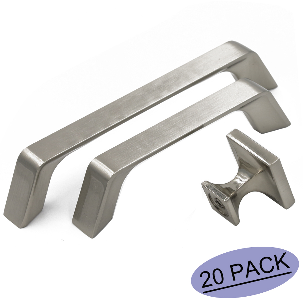 Brushed Nickel Cabinet Handles Drawer Knobs Single T Knob~5 inch Center to Center Kitchen Cabinet Pulls Drawer Handles 20 Pack probrico psf7718ac 20 pack zinc alloy brushed copper vintage furniture antique drawer knobs kitchen cabinet handles pulls