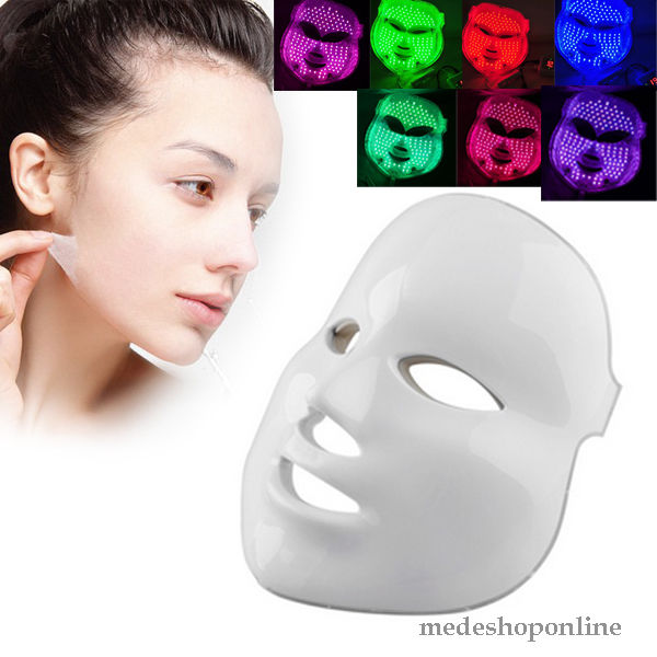 New Arrival 7 Colors LED Photon Facial Mask Skin Rejuvenation Light Therapy Reduces Wrinkles 7color led mask photon light skin rejuvenation therapy facial mask ice roller stainless steel blackhead needle bend curved