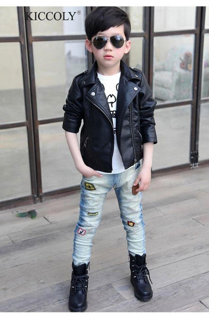 Baby Boys Faux Leather Jacket Kids Girls And Coats Spring Kids