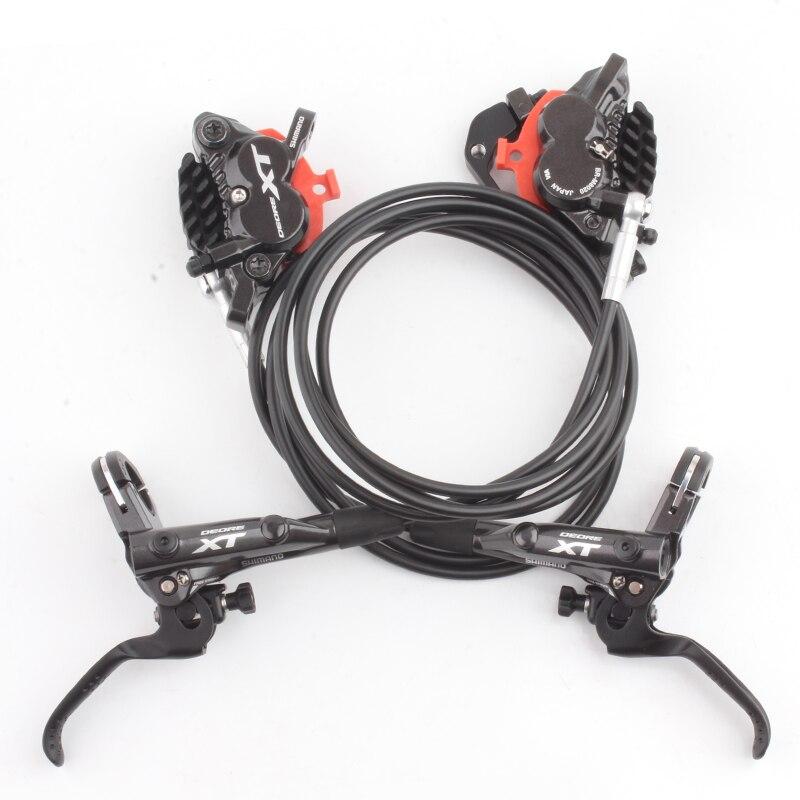 SHIMANO DEORE XT BL M8000/BR M8020 Hydraulique Disque De Frein 4 Pistons Comprennent ICE-TECH PLAQUETTES Longueur 800/1450mm