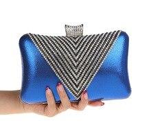 Damen Kleine Strass Diamante Luxus Kristall Marke Designer Clutch Frau Abendtasche Hochzeit Handtaschen SMYCWL-B0026