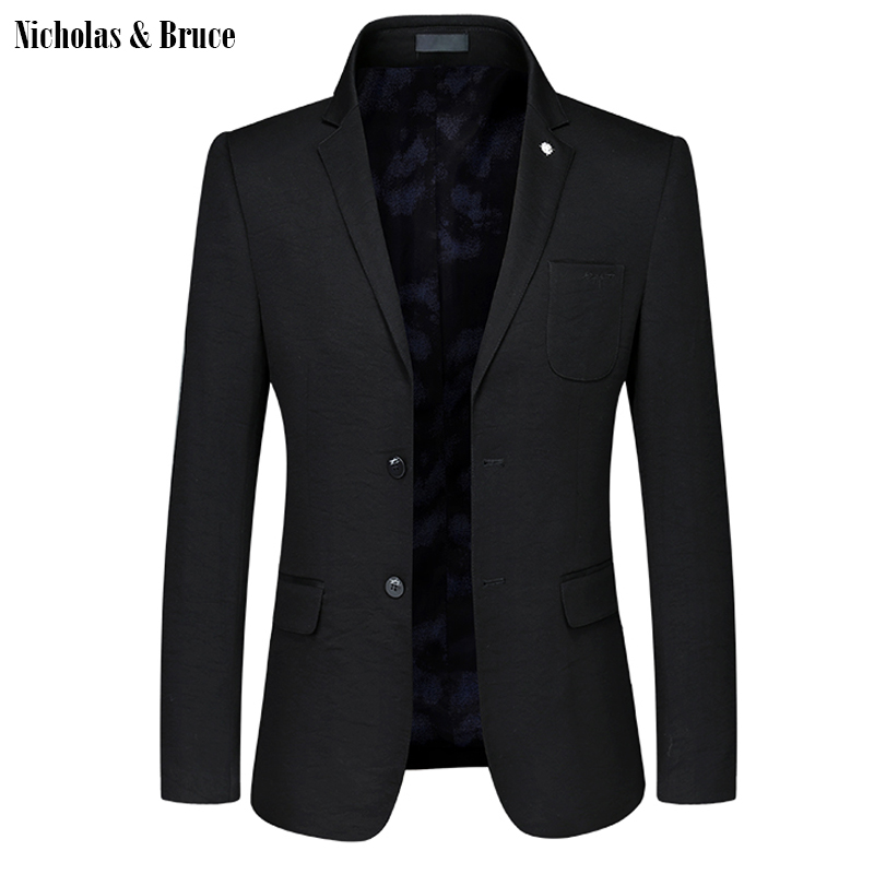 N&B Suit Jacket 2019 Men Formal Black Blazer Mens Frock Coat Men's Jackets For Weddings Slim Fit Suit Coat Dress Blazer SR17