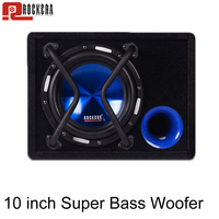 Car Audio Subwoofer Max 500W High Power Speaker Active Trapezoidal Overweight Auto Sub Bass Woofer Speaker Box Hifi Speaker