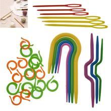Популярные маркеры, зажим для игл, крючок для вязания крючком, пластик, 1 набор, высокое качество, рукоделие, спицы для вязания, фиксирующий стежок