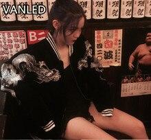 Japanese Harajuku Style New Embroidery Jacket Baseball Lovers Women Coat Jacket