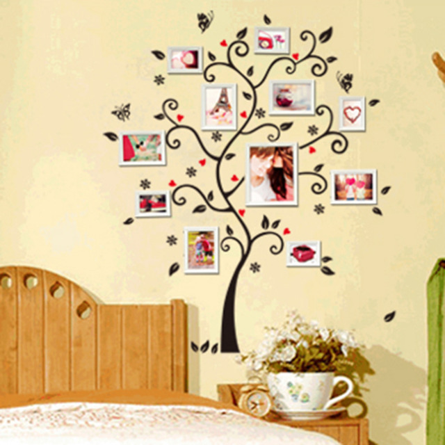 DIY Family Photo Frame Tree Wall Sticker Home Decor Living Room Bedroom Wall Decals Poster Home  sc 1 st  AliExpress.com & DIY Family Photo Frame Tree Wall Sticker Home Decor Living Room ...