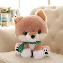 Brown Corgi Dog Plush Toys Cartoon Soft Shiba Inu Gifts Puppy Doll Brinquedo Menina Cute Pillow Knuffel Toys For Children 70G334