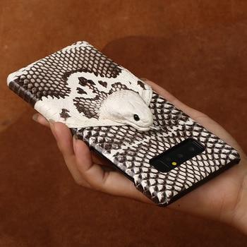 Wangcangli Brand Phone Case Real Snake Head Back Cover Phone Shell For Samsung Galaxy Note 8 Full Manual Custom Processing
