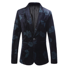 Suit jacket mens fashion blue red printed suit large S-6XL high quality slim business casual boutique
