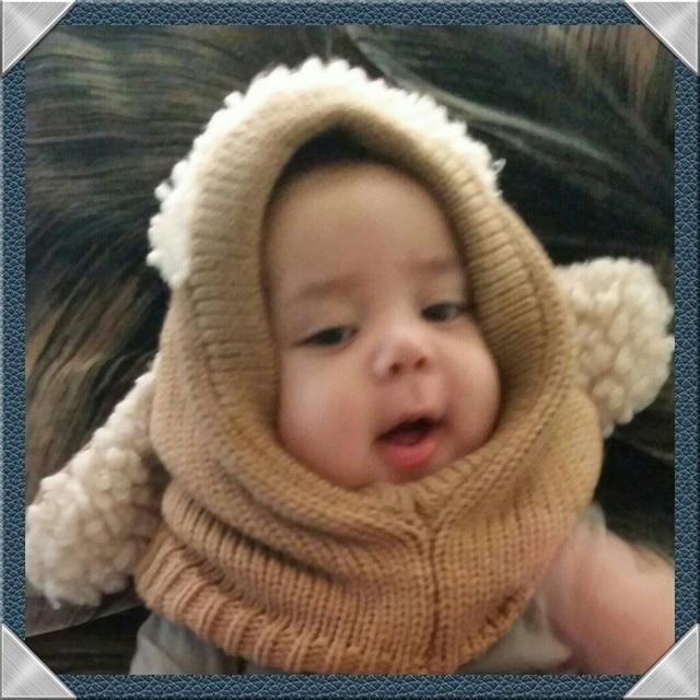 6b676dba756 Nouvelle Hiver Bébé Enfant En Bas Âge Fille Garçon Chaud Mignon Chien  Tricoté Crochet Manteau capuche