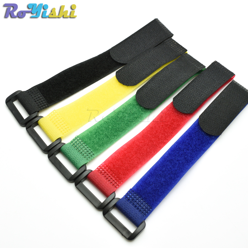 5pcs/pack Magic Tape Sticks cable ties model straps wire with battery stick buckle belt bundle tie hook&loop Fastener Tape